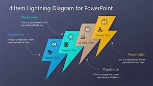 Multi Steps Powerpoint Diagram Lightning