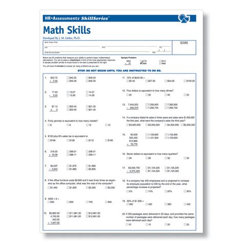 workplace math skills test workplace essential skills