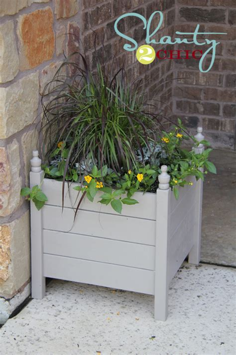 ana white square planters  finials diy projects