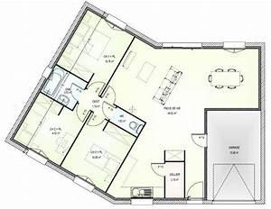 plan maison en v plain pied gratuit xo83 jornalagora With beautiful plan gratuit de maison 0 plan maison plein pied 120m2
