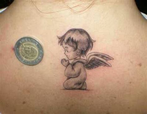 Small Angel Baby Tattoos