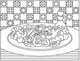 Salad Clipart Coloring 1029 sketch template