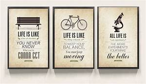 3 piece Modern ... Wall Typography Quotes