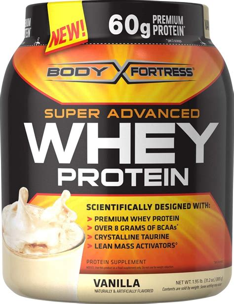 Amazon.com: Body Fortress Whey Protein Powder, Vanilla, 31