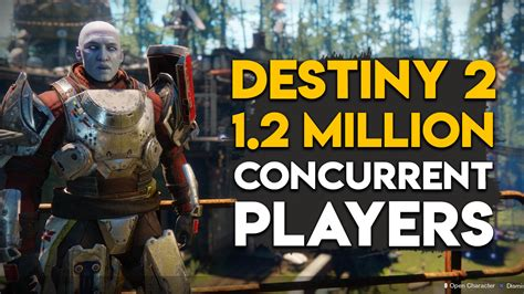 destiny 2 reaches 1 2 million concurrent players in