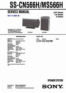 Sony Sa-ve366t  Sa-ve566h Service Manual