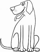 Dog Dane Coloring Cartoon Drawing Getdrawings sketch template