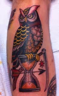 American Traditional Owl Tattoo