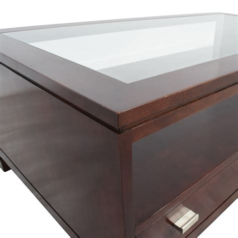 Buy Coffee Tables With Storage by 84 Stickley Wood Coffee Table With Storage Space