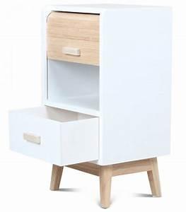 Table De Chevet Design : table de chevet design en bois blanc ~ Teatrodelosmanantiales.com Idées de Décoration