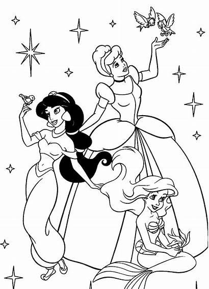 Coloring Princess Jasmine Pages Disney Preschool Getdrawings