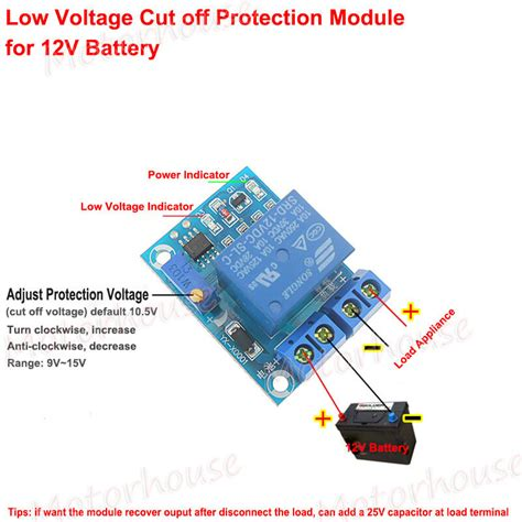 Battery Low Voltage Cut Off Switch Controller