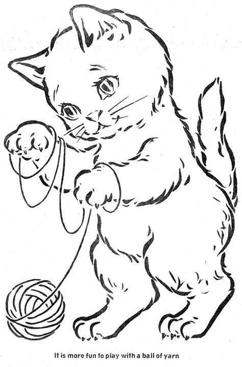 kittens coloring books vintage