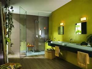 beautiful idee couleur mur salle de bain photos seiunkel With idee couleur salle de bain