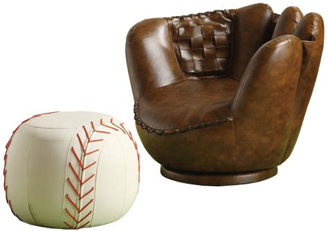baseball mitt chair and ottoman funky mitt chair something different funk this house