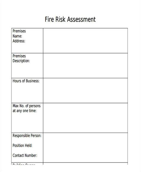 hazard assessment template risk assessment template madinbelgrade