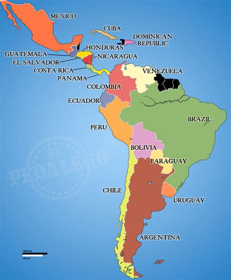latin america map travelquazcom