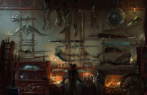 bloodborne weapons workshop hd wallpaper background
