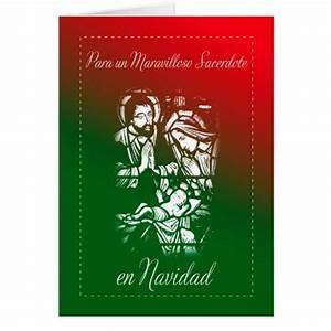 Noel En Espagnol : no l de nativit pour le pr tre espagnol carte de v ux zazzle ~ Preciouscoupons.com Idées de Décoration