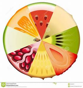 Fruit Diet Diagram Stock Vector  Illustration Of Fresh