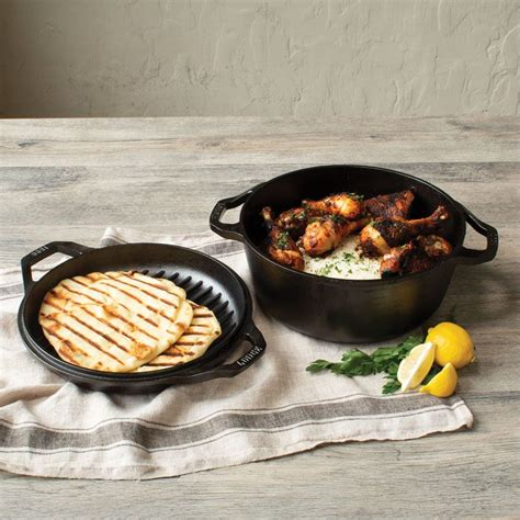 dutch oven chef lodge double iron cast quart lodgemfg
