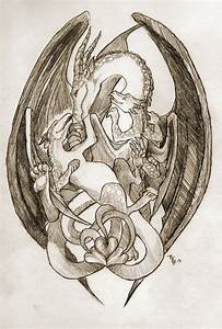 Celtic Knot: Mother Dragon and Children by PlaidRed on ...
