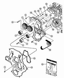 2007 Jeep Compass Gasket Kit  Timing Cover  Engine  Belt