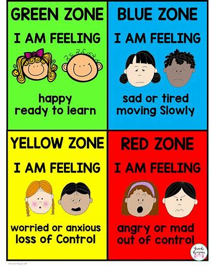 Zones Regulation Calm Down Poster Emotions Elementary