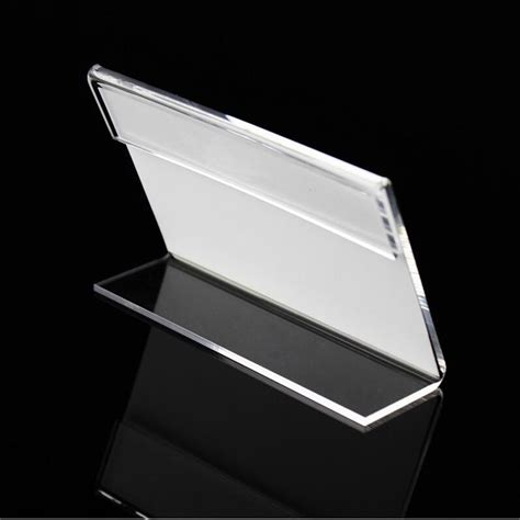 xmm pcs tag ticket card display stand acrylic desktop paper  plate displayer label