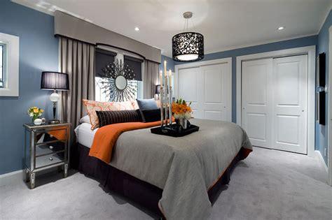 lockhart blue gray orange bedroom contemporary bedroom toronto by lockhart