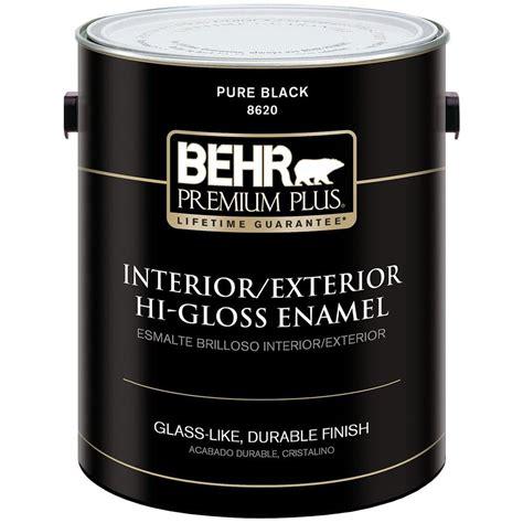 behr premium plus 1 gal black hi gloss low voc interior