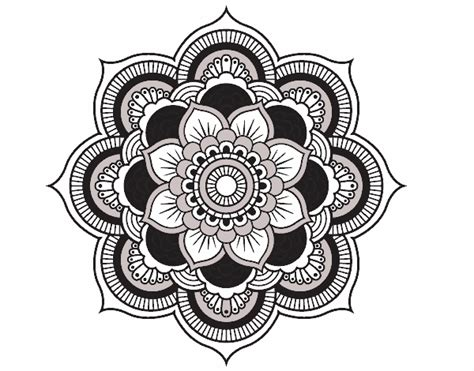 Colored Page Mandala Oriental Flower Painted By User Not