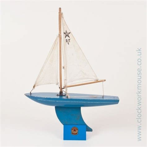 Toy Boat In Sea by A Lovely Little Vintage Star Yacht Sy 1 Toy Sailing Boat
