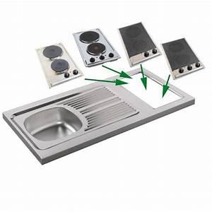 Cadre Inox Pour Plaque Vitroceramique : evier avec plaque de cuisson electrique ~ Premium-room.com Idées de Décoration