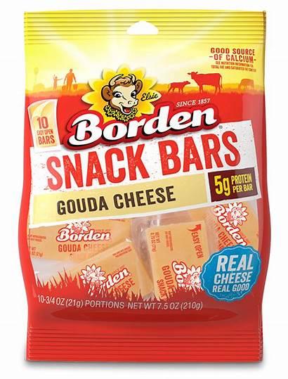 Snack Gouda Bars Singles American Borden Cheese