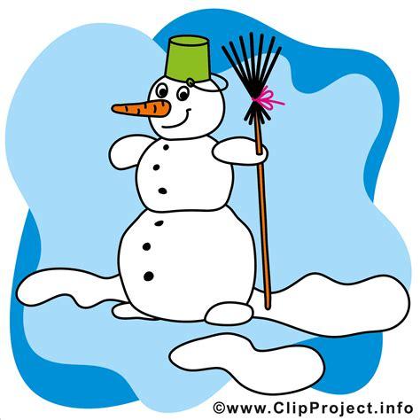 Winter Clipart Weihnachtsbild Gratis Schneemann Mit Besen