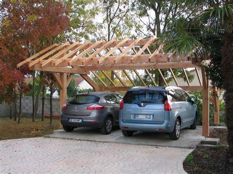 abri bois voiture abri voitures r 233 gion auvergne kit charpente bois sur mesures