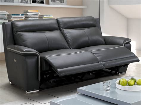 vente privée canapé cuir canapé et fauteuil relax électrique en cuir 2 coloris paosa