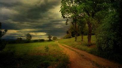 Rain Summer Road Forest Cloudy Wallpapers Before