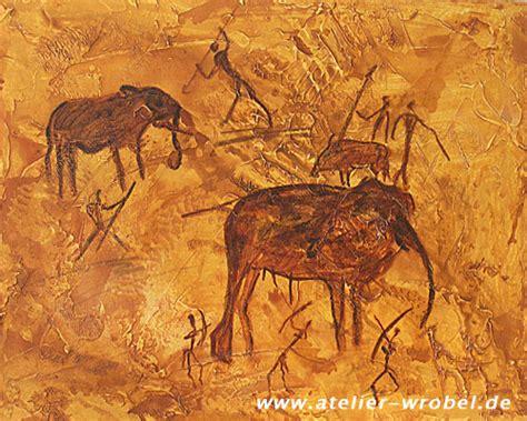caveart elefantenjagd ii malerei praehistorisch
