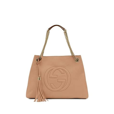 gucci soho s camelia handbag 308982 beige shoulder bag tradesy
