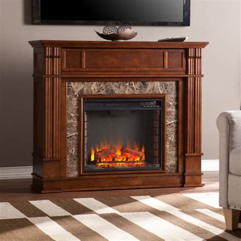 belleview simulated stone media center electric