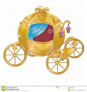 Gold Carriage For Cinderella Stock Vector - Illustration ...