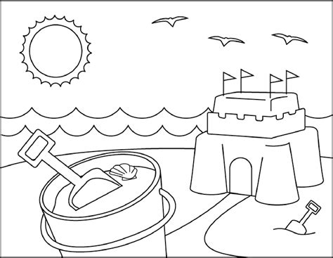 Coloring Sand by Sandcastle Coloring Pages