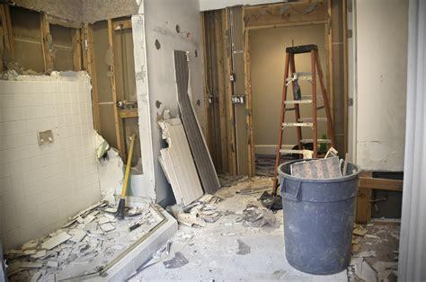 master bathroom remodeling demolition phase len  plumber