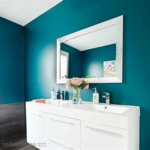 couleur peinture salle de bain tendance sedgucom With peinture de salle de bain tendance