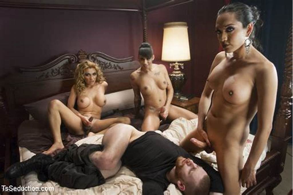 #Sexual #Orgy #As #Three #Hot #She