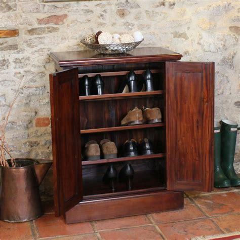 Shoes Cupboard by Mahogany Shoe Cupboard La Roque Wooden Furniture Store