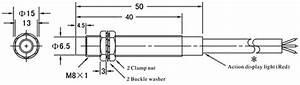 Proximity Sensor  Inductive  M8  2 Wire  120v