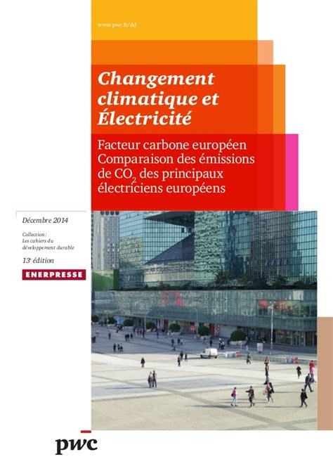 changement adresse si鑒e social etude pwc changement climatique et électricité déc 2014